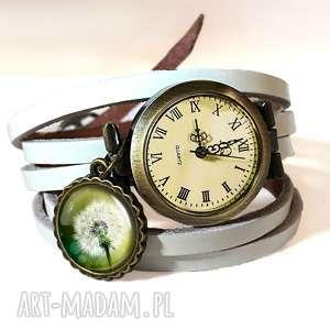 niebanalne naszyjniki wiosna dmuchawiec - medalion z łańcuszkiem