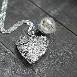 trendy naszyjniki serce ♥ dmuchawiec♥ medalion sterling 925