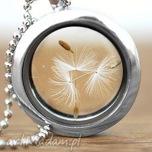 wyjątkowe naszyjniki medalion ♥ dmuchawiec naszyjnik