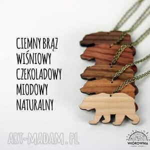 unikalne naszyjniki naszyjnik drewniany - piórko