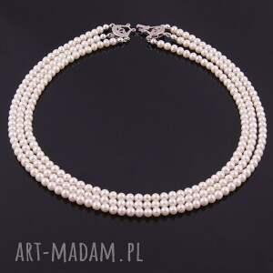 białe naszyjniki elegancki naszyjnik z białych