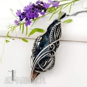 naszyjniki wirewrapping eos srebrny naszyjnik z kyanitem