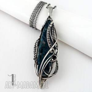 srebro naszyjniki niebieskie eos srebrny naszyjnik z kyanitem