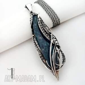 szare naszyjniki prezent eos srebrny naszyjnik z kyanitem