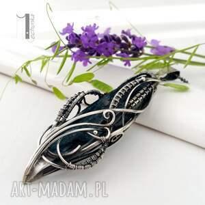 nietypowe naszyjniki srebro eos srebrny naszyjnik z kyanitem