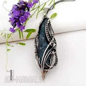 nietypowe naszyjniki wirewrapping eos srebrny naszyjnik z kyanitem