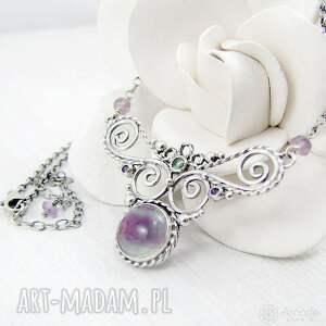 handmade naszyjniki ażurowy fairy wings - fluoryt