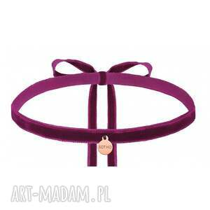 ręcznie wykonane naszyjniki modny fioletowy aksamitny choker
