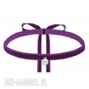 intrygujące naszyjniki fioletowy aksamitny choker