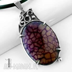 ręcznie zrobione naszyjniki agat flare srebrny naszyjnik z agatem