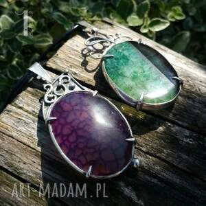 ręcznie zrobione naszyjniki perły flare srebrny naszyjnik z agatem