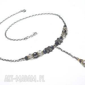hand-made naszyjniki srebro flower /short/ vol. 3 - naszyjnik