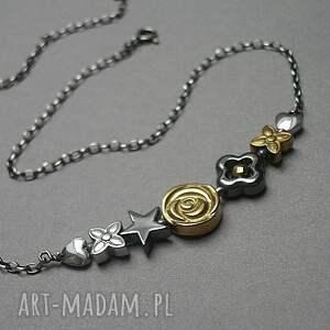 modne naszyjniki srebro flower /short/ vol. 2 - naszyjnik