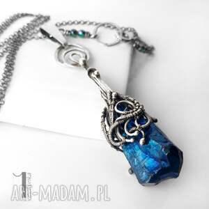 srebro naszyjniki niebieskie frosen iii srebrny naszyjnik