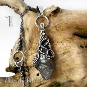ręcznie robione naszyjniki kwarc frozen iv - srebrny naszyjnik