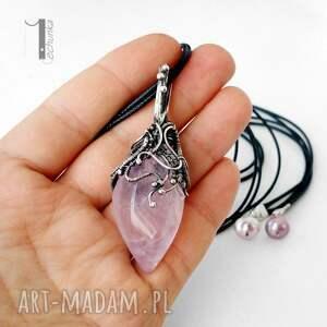 srebro naszyjniki różowe frozen pink srebrny naszyjnik