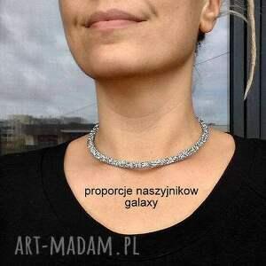 naszyjniki choker galaxy- naszyjnik z krysztalków/