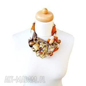 pomarańczowe naszyjniki rudy ginger naszyjnik handmade