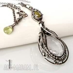 kryształ naszyjniki zielone glaciem crystal drop naszyjnik