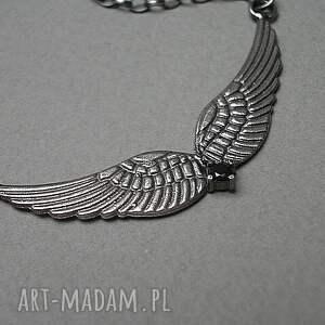 srebrne naszyjniki srebro glam rock - naszyjnik