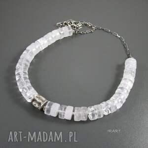 naszyjniki kryształ gnieciony walec z kryształem