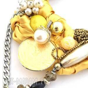 nietypowe naszyjniki naszyjnik golden handmade