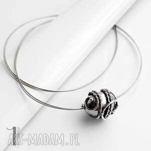 szare naszyjniki naszyjnik graphite ii - srebrny