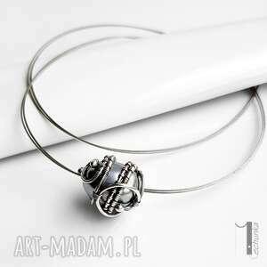 wirewrapping naszyjniki graphite ii - srebrny naszyjnik