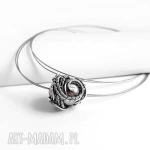 niepowtarzalne naszyjniki naszyjnik graphite iii srebrny