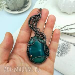 naszyjniki zielony-agat green moon - naszyjnik z wisiorem