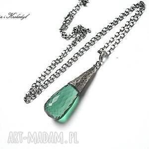 zielone naszyjniki kwarc green quartz - naszyjnik