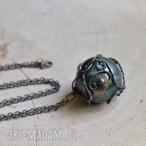 naszyjniki zielona kula green sphere - naszyjnik