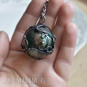 zielone naszyjniki naszyjnik z-kulą green sphere