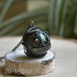 zielona kula naszyjniki green sphere - naszyjnik