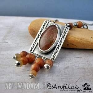 sunstone naszyjniki groeg - kamień słoneczny, srebro