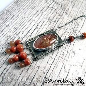 naszyjniki sunstone groeg - kamień słoneczny, srebro