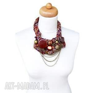kolorowe naszyjniki etno gypsy naszyjnik handmade