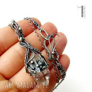 urokliwe naszyjniki 925 lodowy amulet - srebrny naszyjnik
