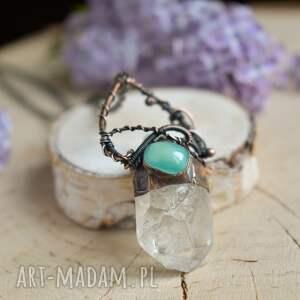 naszyjniki surowy kryształ naszyjnik z kryształem górskim