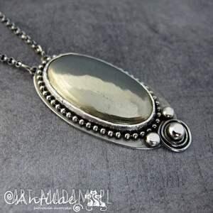 eleganckie piryt igolide - srebro, naszyjnik