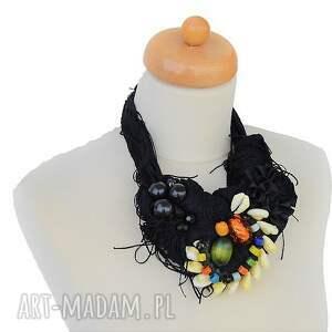 czarny naszyjniki indiana naszyjnik handmade