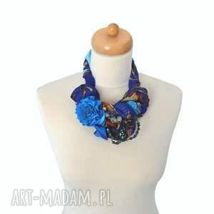niebieskie naszyjniki naszyjnik indygo handmade