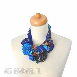 naszyjniki: indygo naszyjnik handmade kolorowy