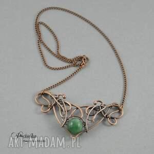 handmade naszyjniki naszyjnik jean - w zieleni z agatem