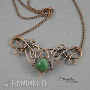 zielone naszyjniki naszyjnik jean - w zieleni z agatem