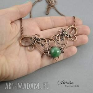 retro naszyjniki jean - naszyjnik w zieleni z agatem