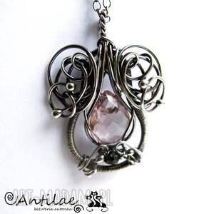 eleganckie naszyjniki naszyjnik kalpeus - kwarc, spinel, srebro