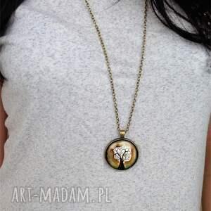 oryginalne naszyjniki drzewo kamienne - duży medalion