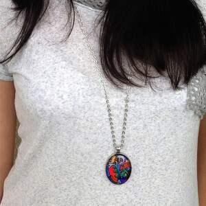 naszyjniki nebula karina - owalny medalion z