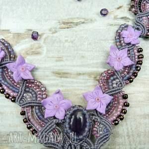 różowe naszyjniki delikatny kobiecy naszyjnik z kamieniem